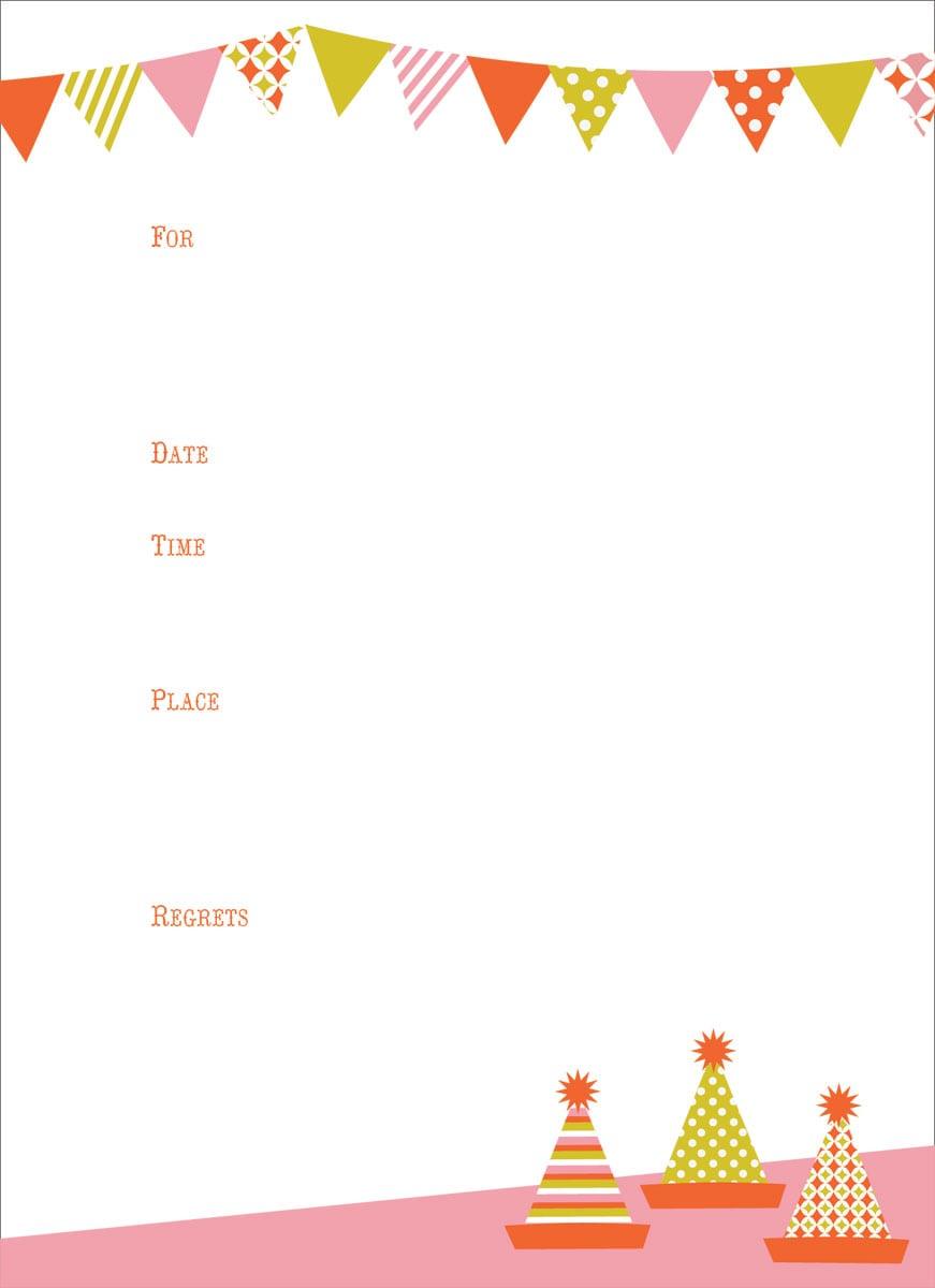 Blank Party Invitation - Mickey Mouse Invitations Templates