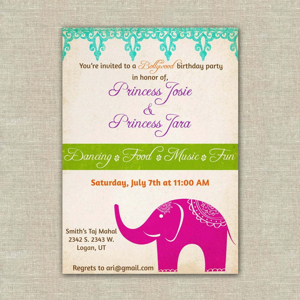 Bollywood Party Invitation