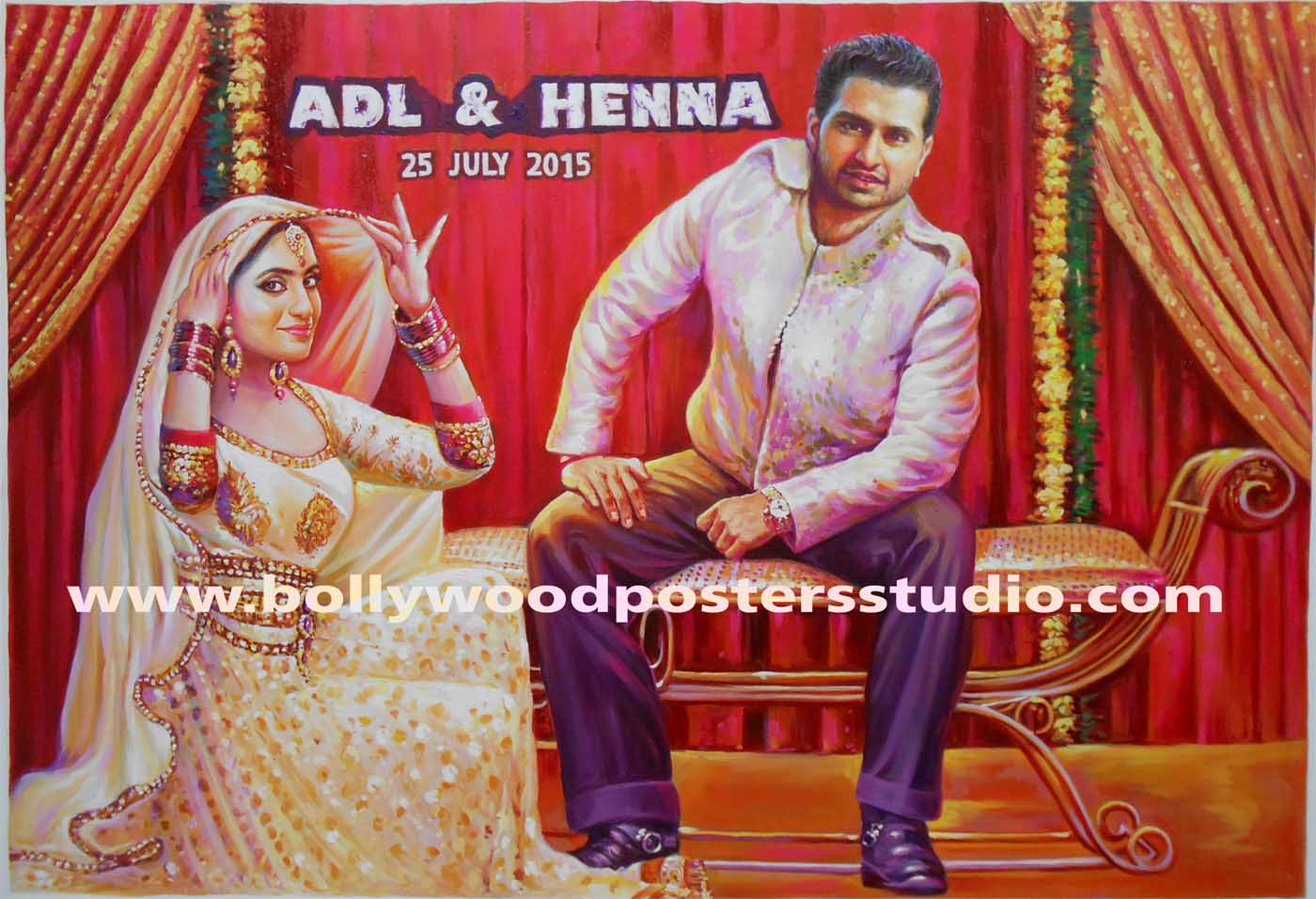 Bollywood Theme Party Invitation Cards