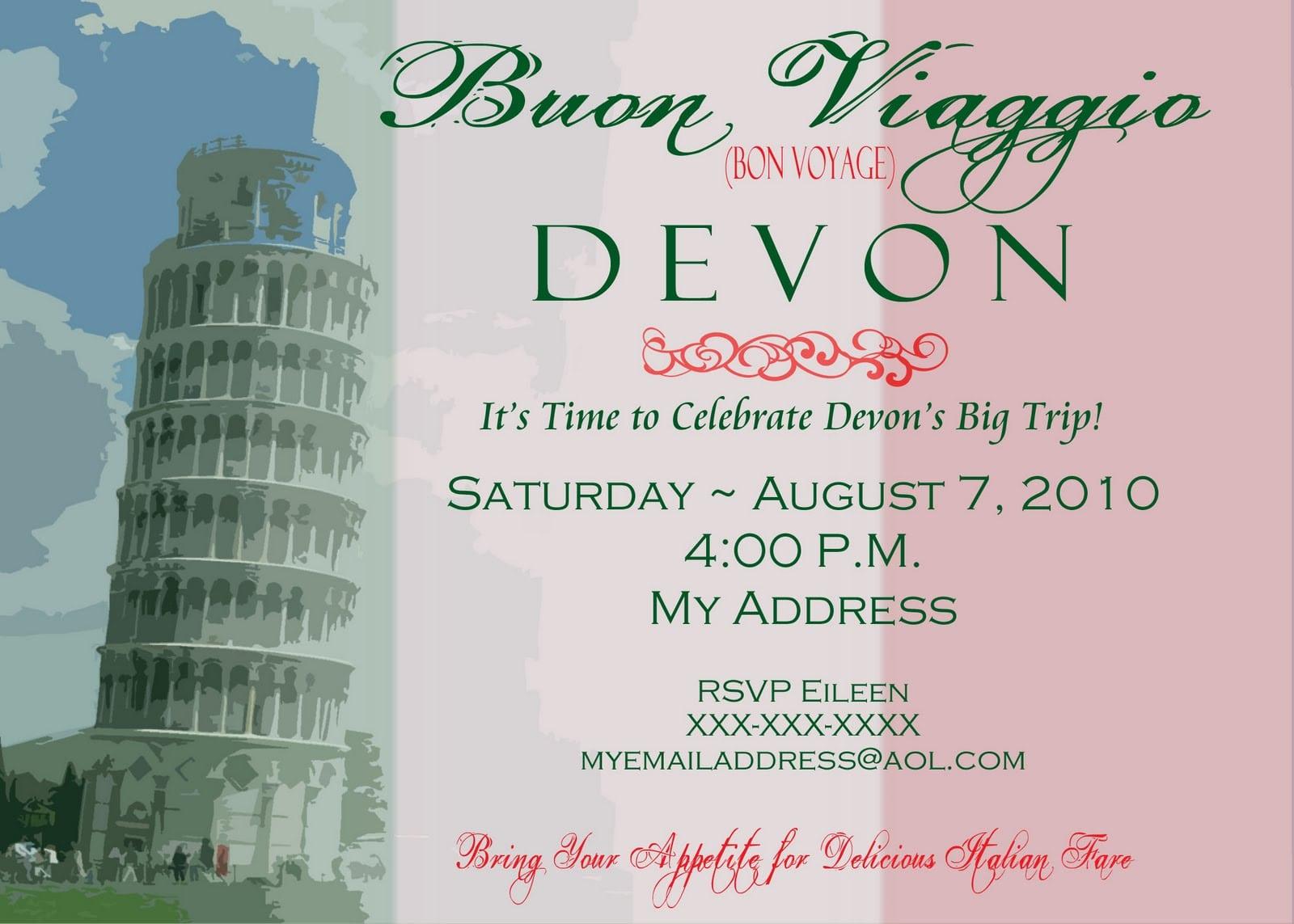 Bon Voyage Party Invitation Template Minimalist