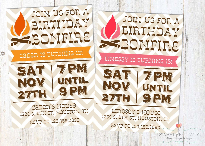 Bonfire Party Invitations – Gangcraft Net