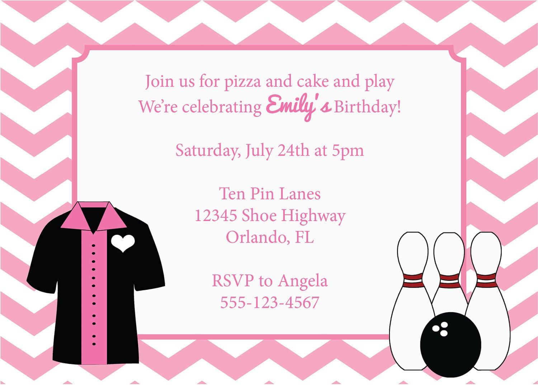 Bowling Birthday Party Girls Invitation Diy Printable Invite