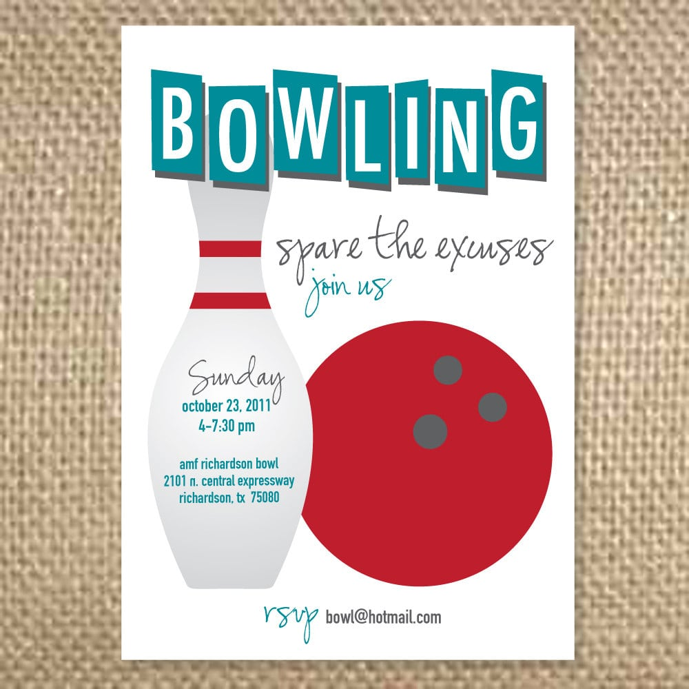 Bowling Party Invitations Wording