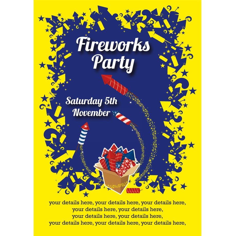 Box Of Rockets Firework Party Invitation