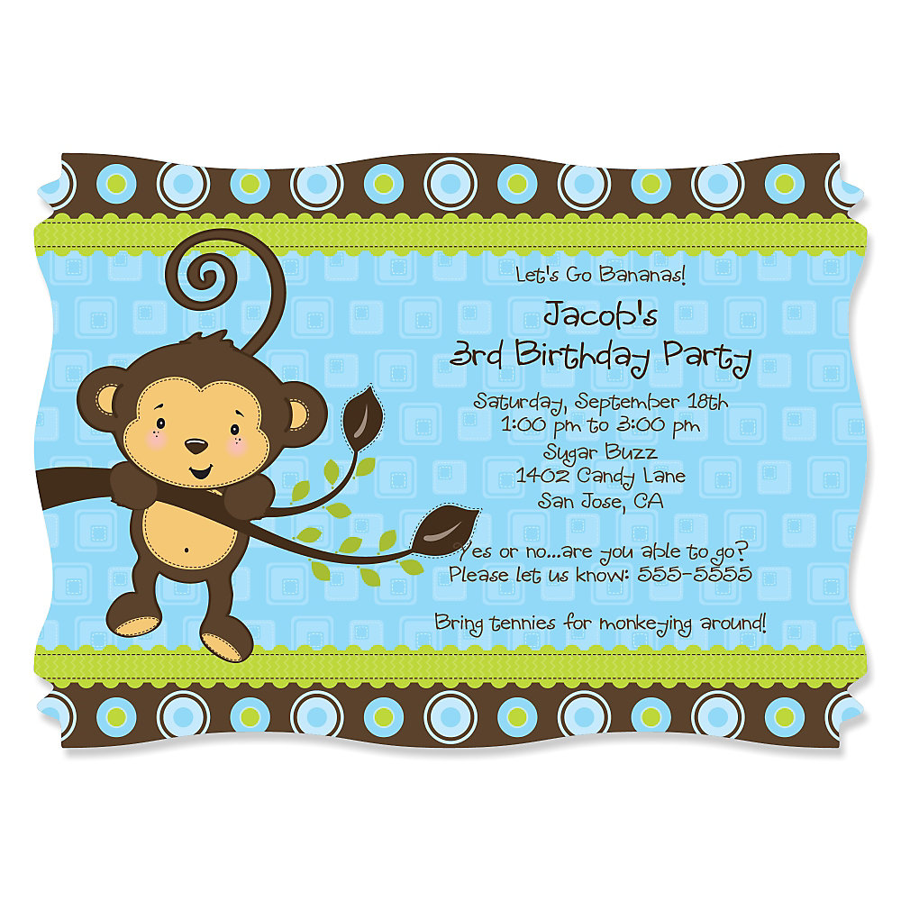 Boys Birthday Party Invitations Boys Birthday Party Invitations