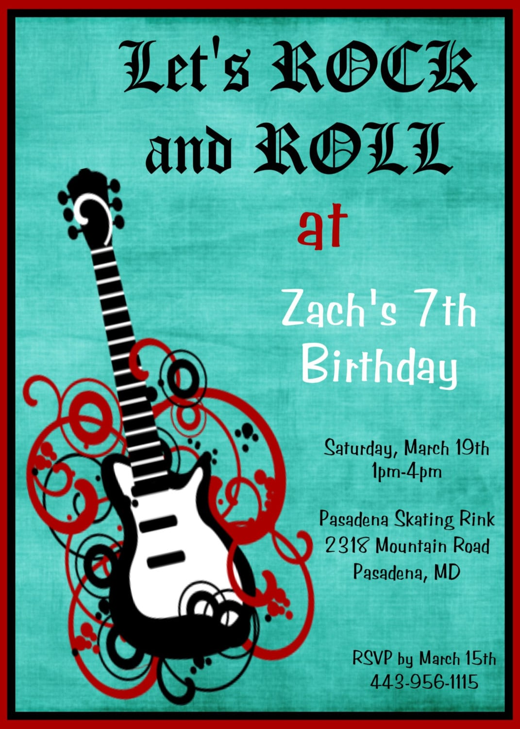 Rock And Roll Party Invitations - Mickey Mouse Invitations Templates