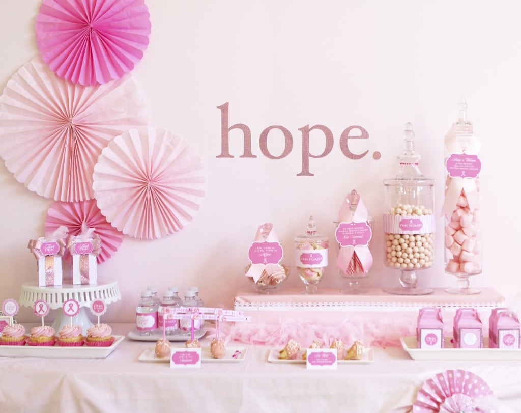 Breast Cancer Awareness Printables + Party Ideas