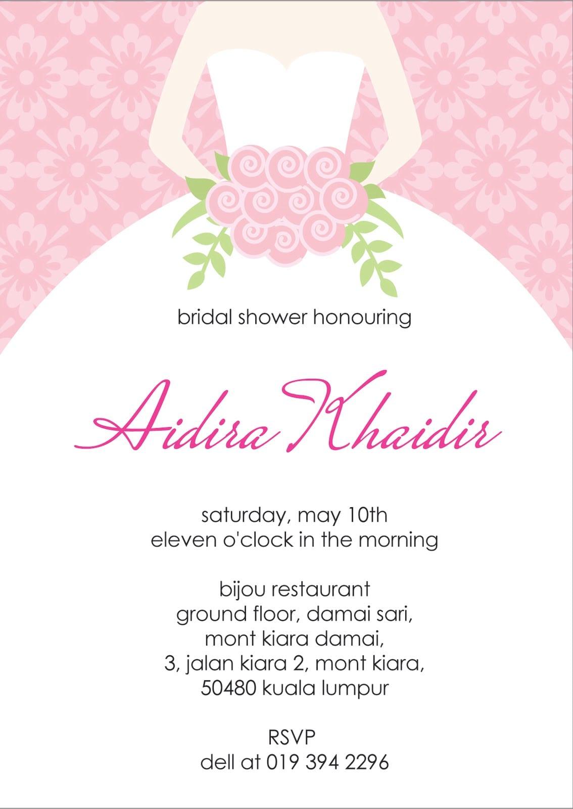 Bridal Party Invitations Templates