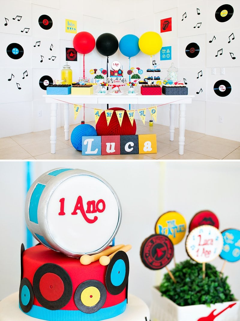 Bright & Classic Rock N' Roll First Birthday Party    Hostess With