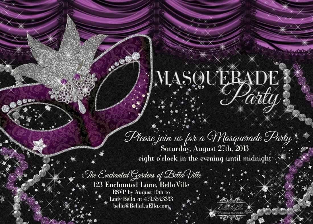 Brilliant Free Masquerade Party Invitation Template Especially