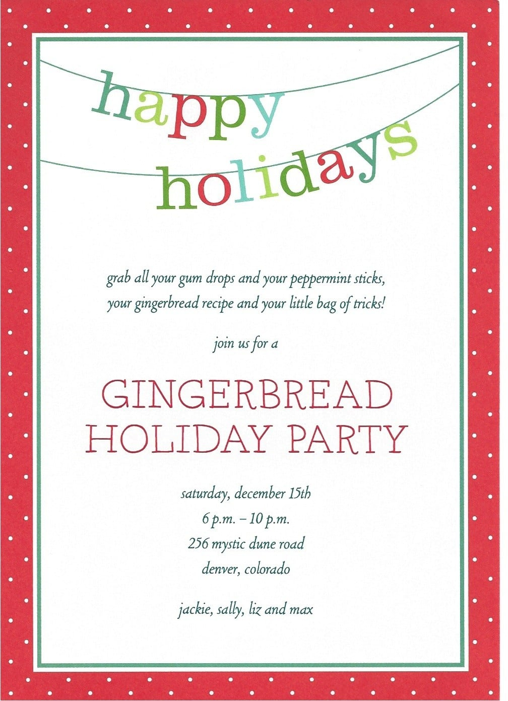 Business Holiday Party Invitation Templates
