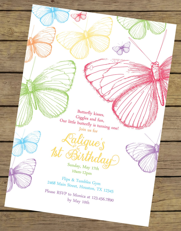 Butterfly Birthday Invitations – Gangcraft Net