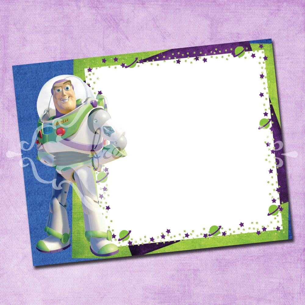 Buzz Lightyear Birthday Invitations