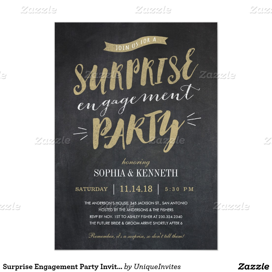 Card Template   Engagement Party Invitation