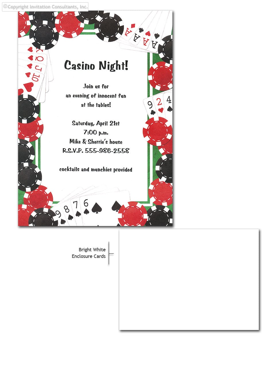 Poker Party Invitation Template - Mickey Mouse Invitations Templates