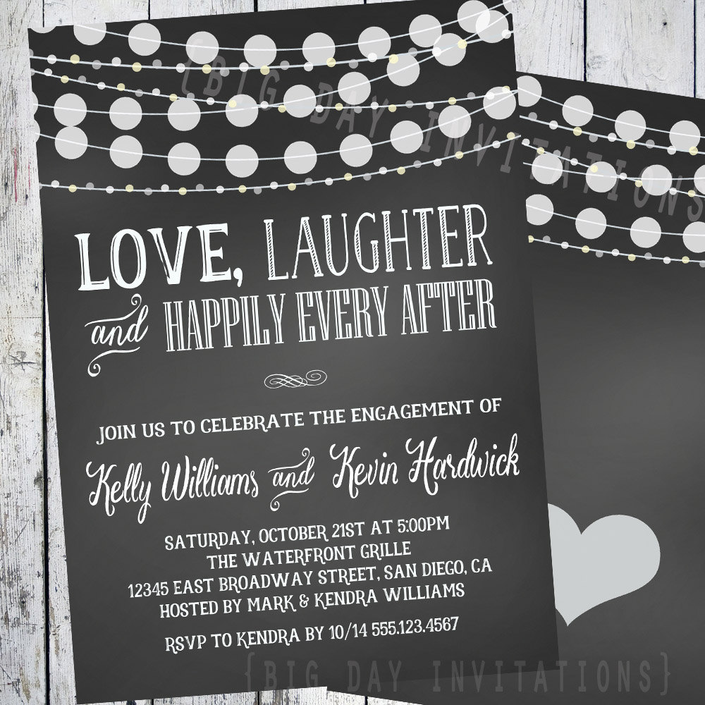 Inexpensive Engagement Party Invitations Mickey Mouse – Engagement Party Invites Templates