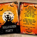 Teenage Halloween Party Invitations