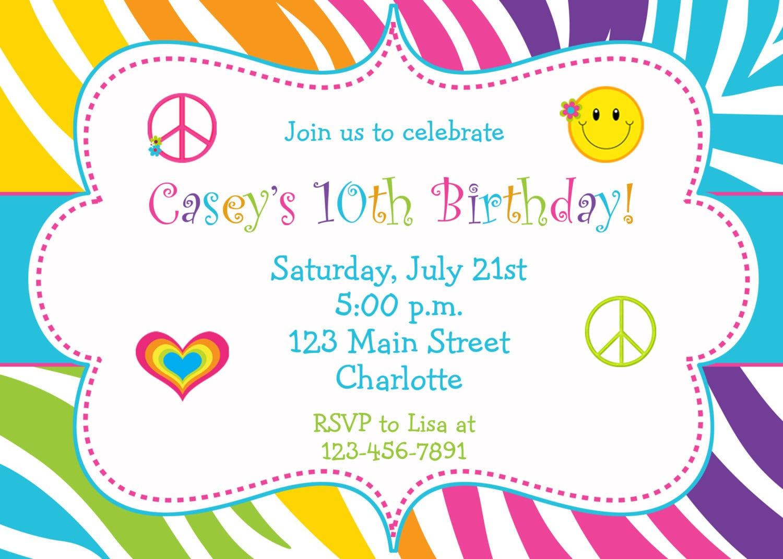 Children's Birthday Party Invitation Children's Birthday Party