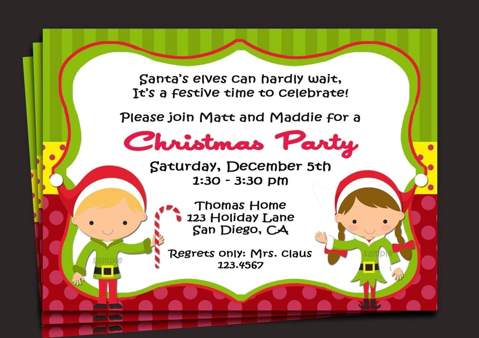 Christmas Dinner Invitation Template Free  Christmas Party