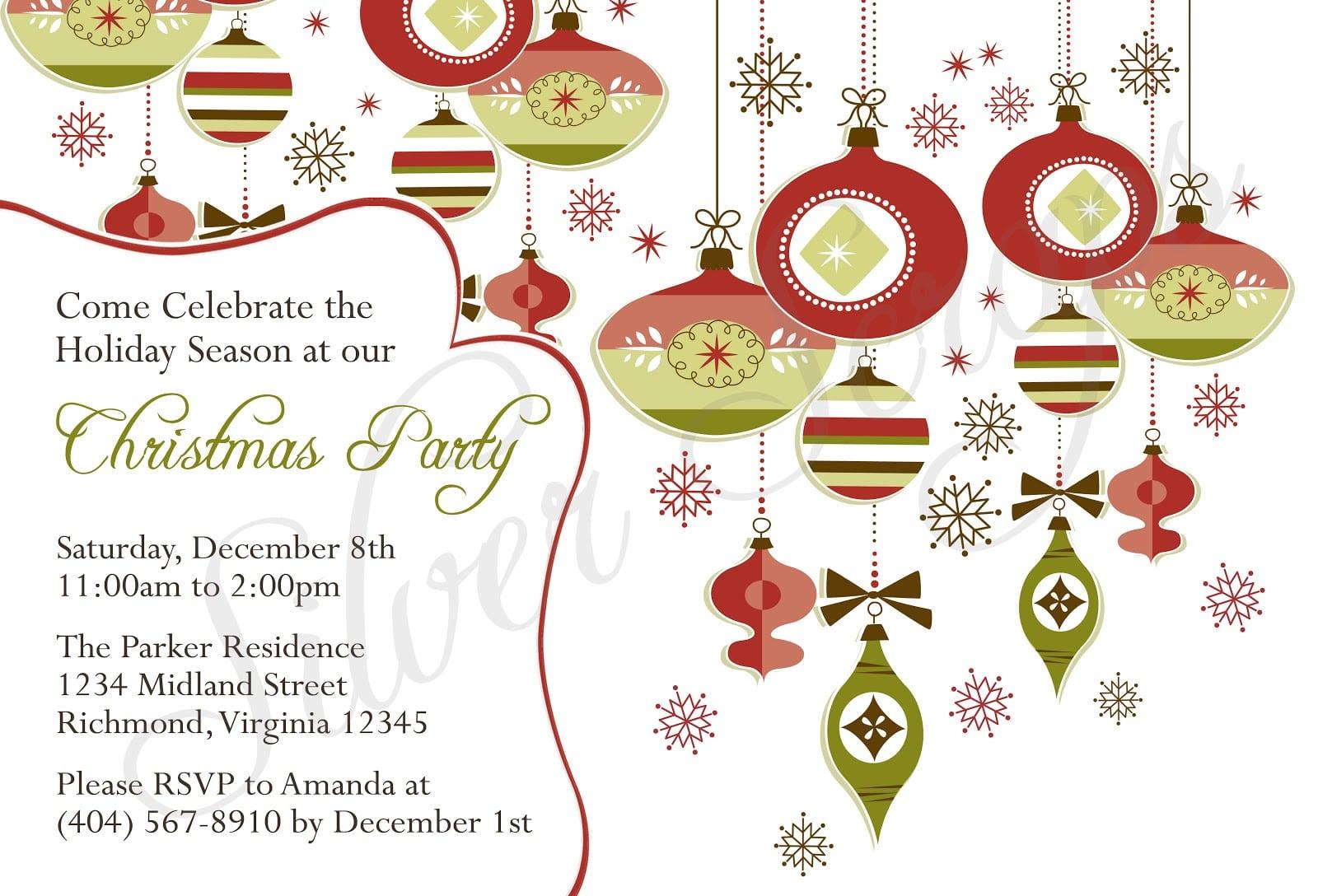 Christmas Holiday Party Invitations Fabulous Christmas Holiday