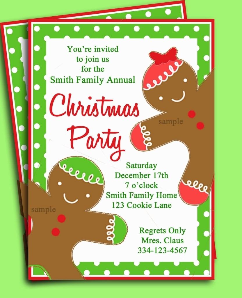 Christmas Pajama Party Invitations 12 Christmas Pajama Party