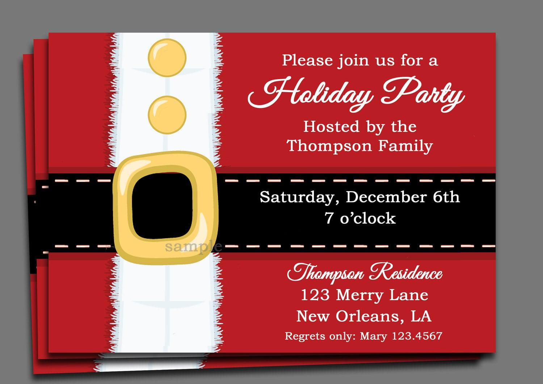 Invitation Christmas Party - Mickey Mouse Invitations Templates