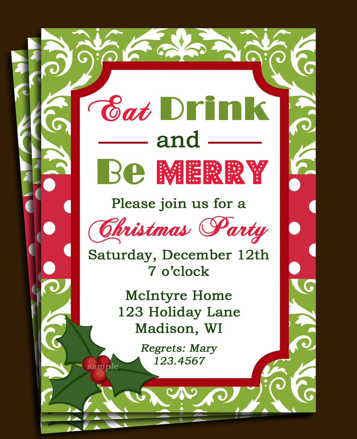 Christmas Party Invitation Template Free – Gangcraft Net