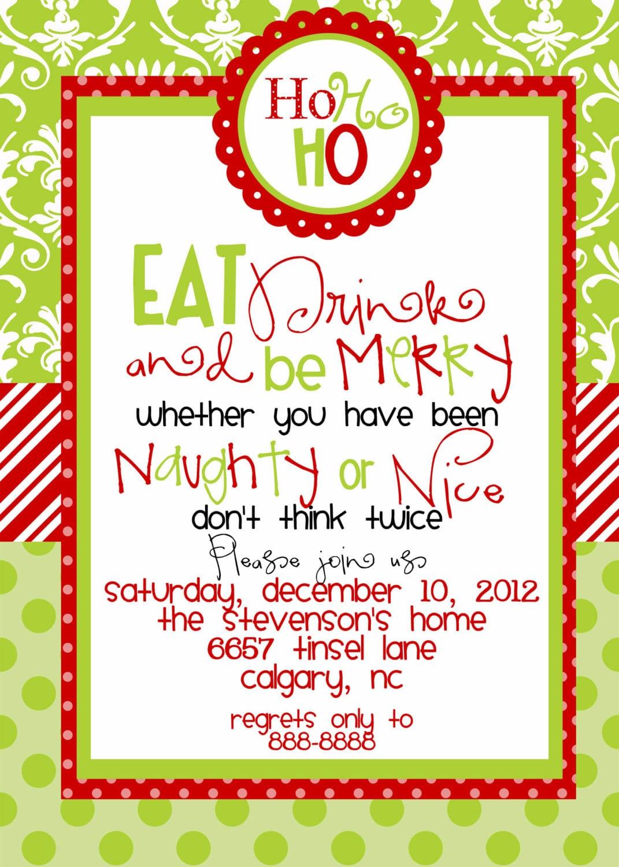 Christmas Party Invitation Wording