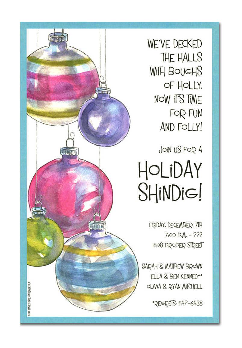Christmas Party Invitation Wording Secret Santa Holiday Gift
