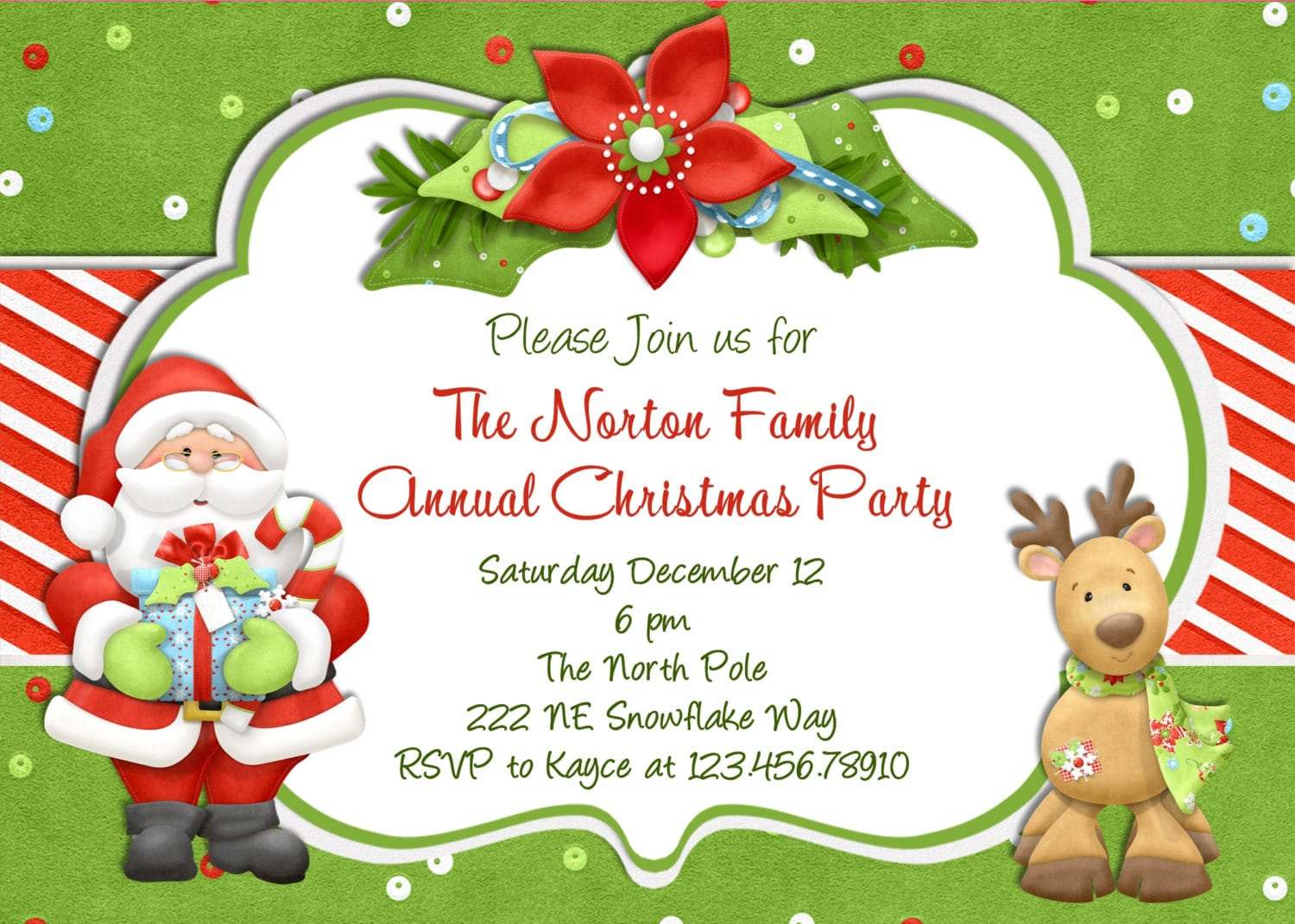 Christmas Party Sample Invitations Sample Christmas Party Sample