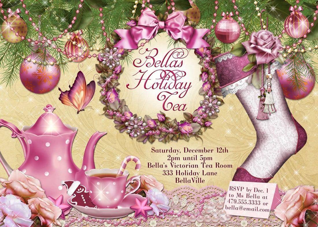 Christmas Tea Party Invitations Christmas Tea Party Invitations 31
