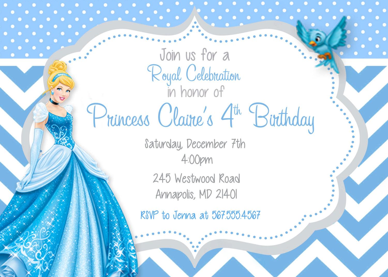 Cinderella Birthday Party Invitations   Bgrj Info