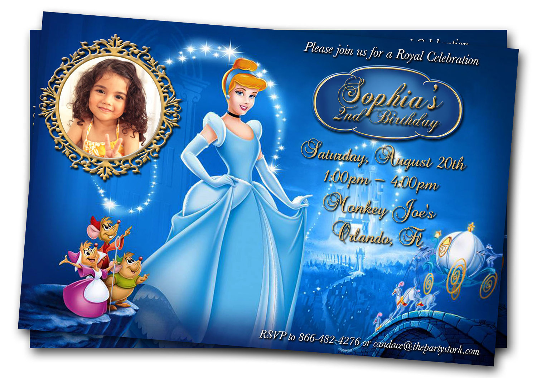 Cinderella Invitation Photo, Cinderella Birthday Invitation