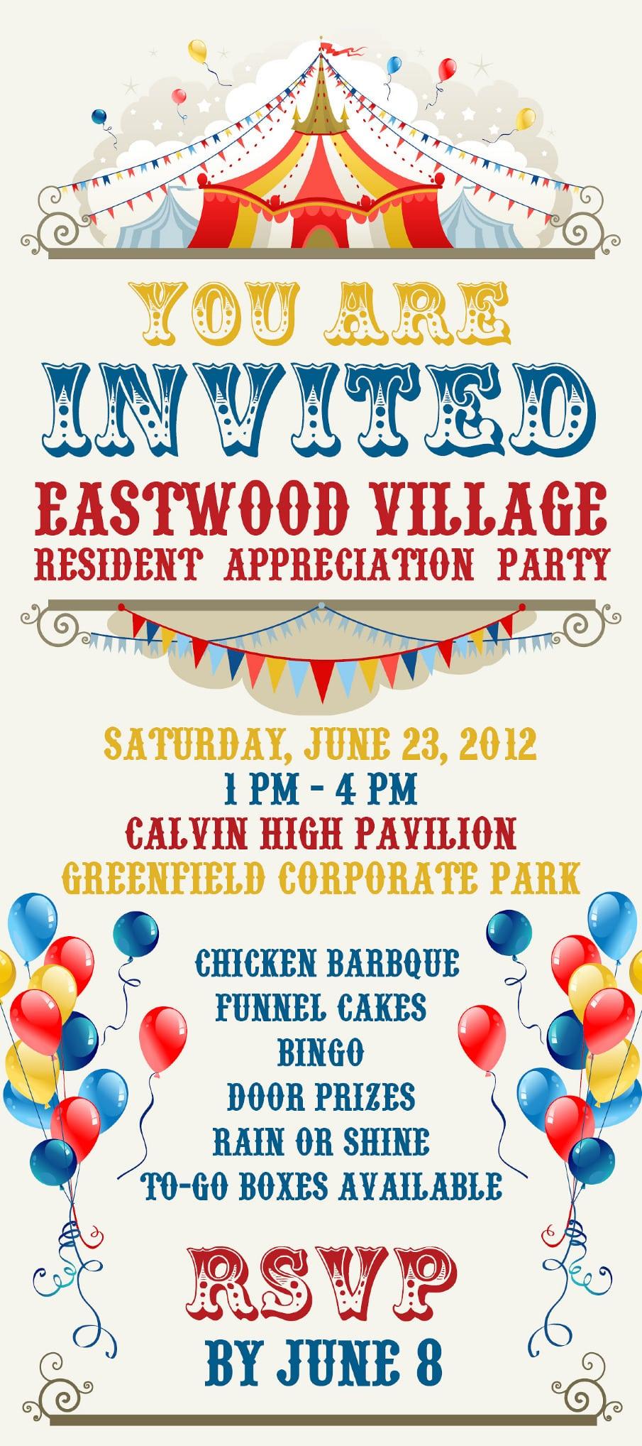 Circus Theme Party Invitation