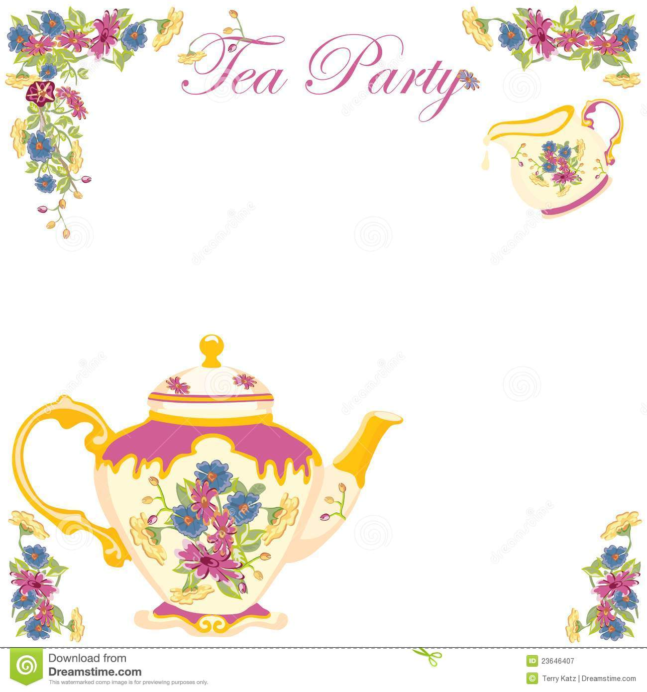 Afternoon tea party invitations mickey mouse invitations templates high tea invitation clipart tea party invitation monicamarmolfo Image collections
