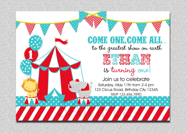 Clown Birthday Party Invitations