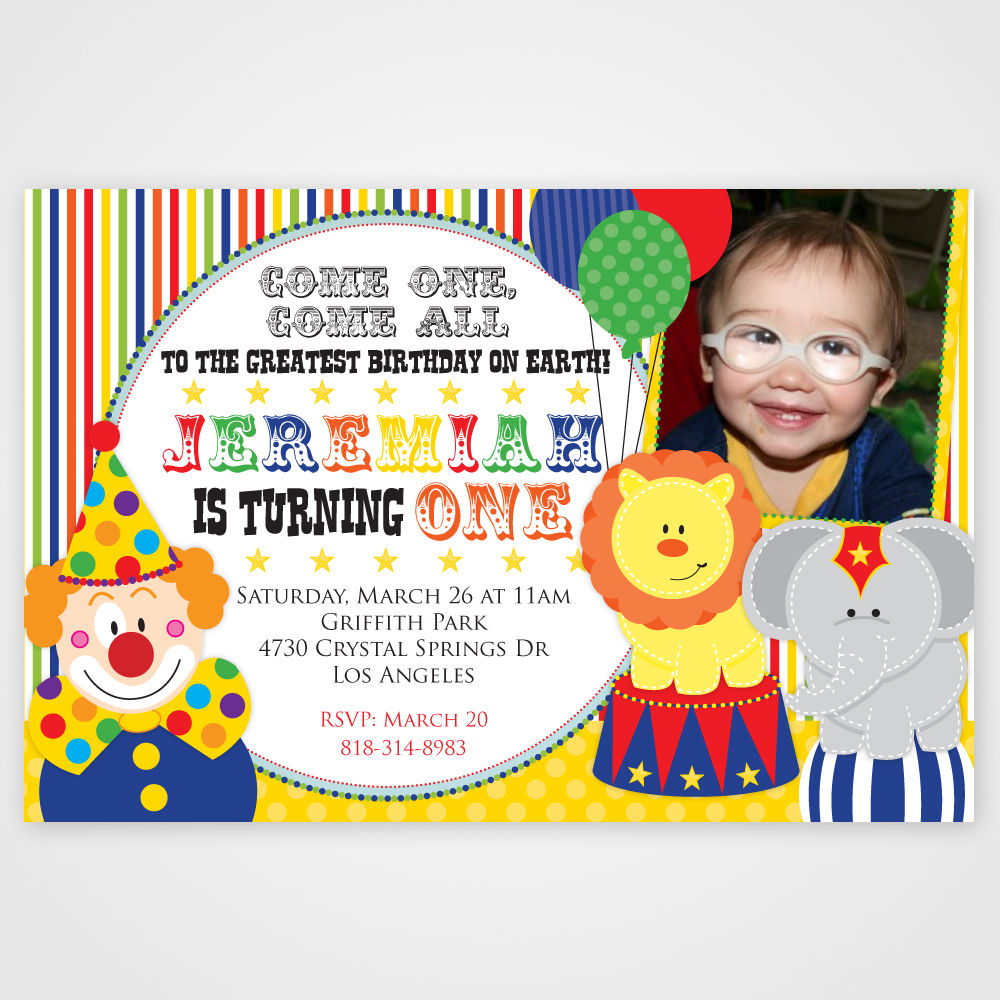 Clown Birthday Party Invitations Ideas About Clown Birthday Party
