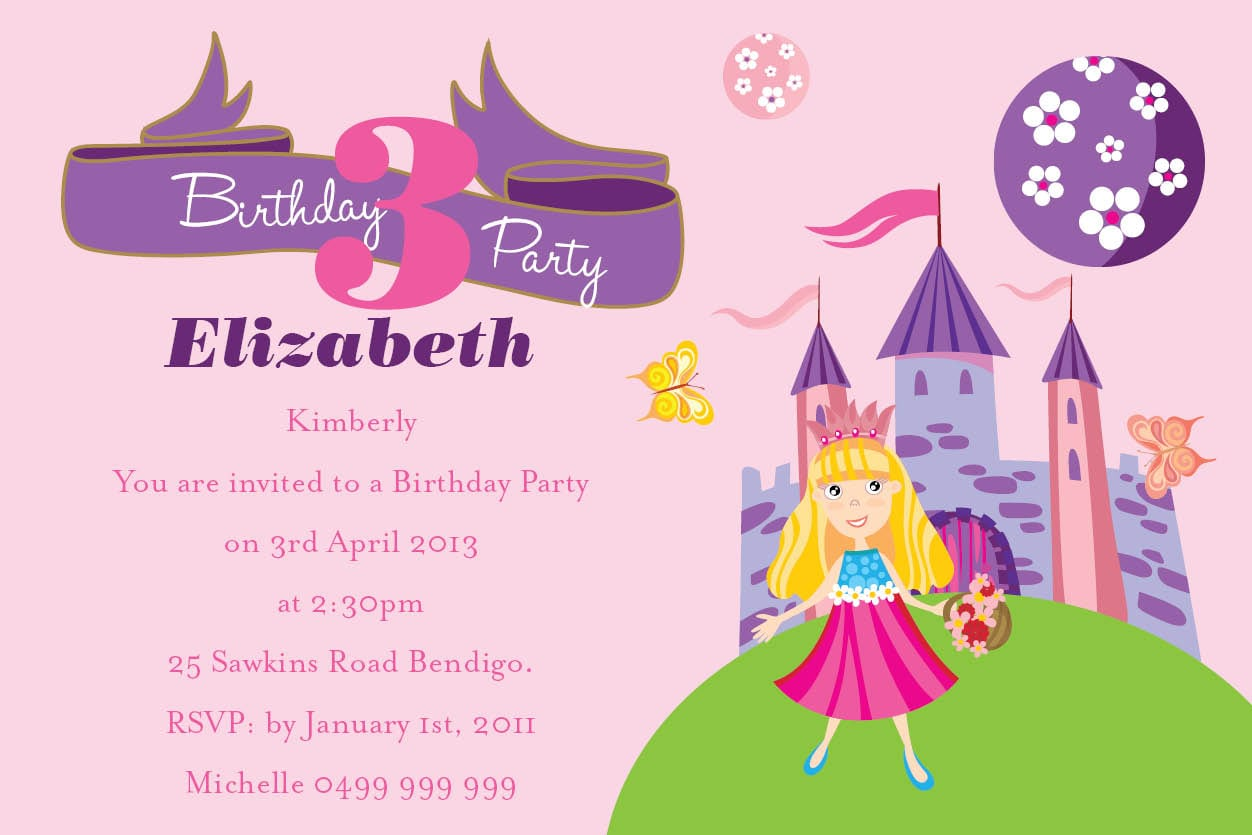 Collection Birthday Party Invitation Wording Pictures