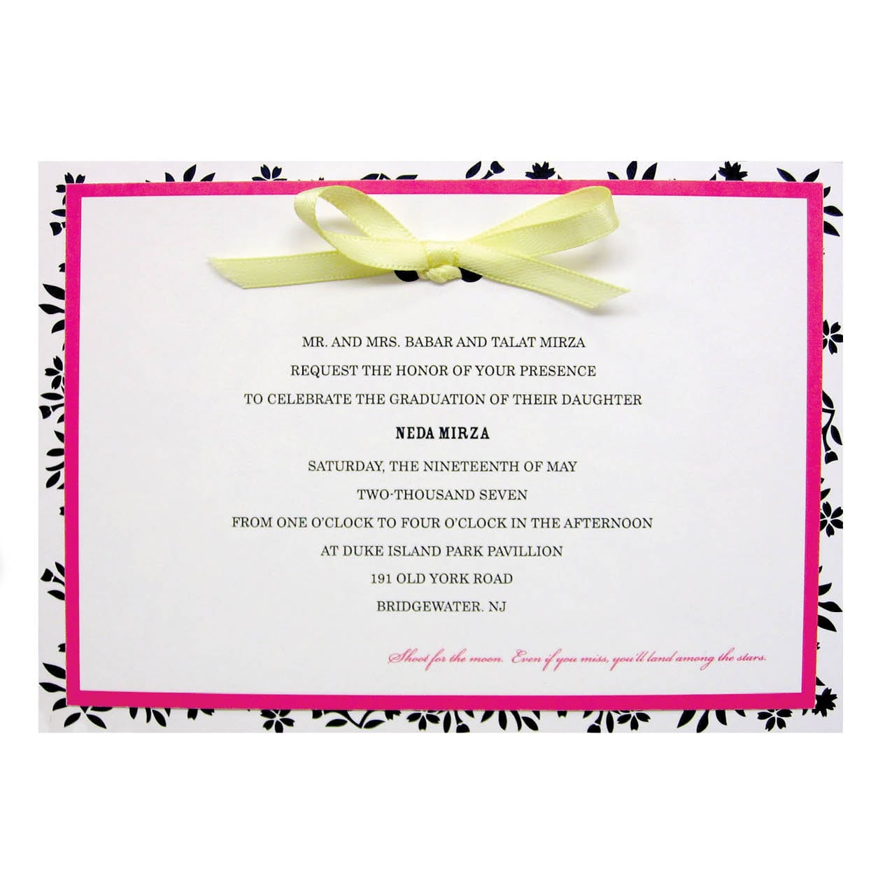 Colors Invitation Wording For A Graduation Party Invitation For