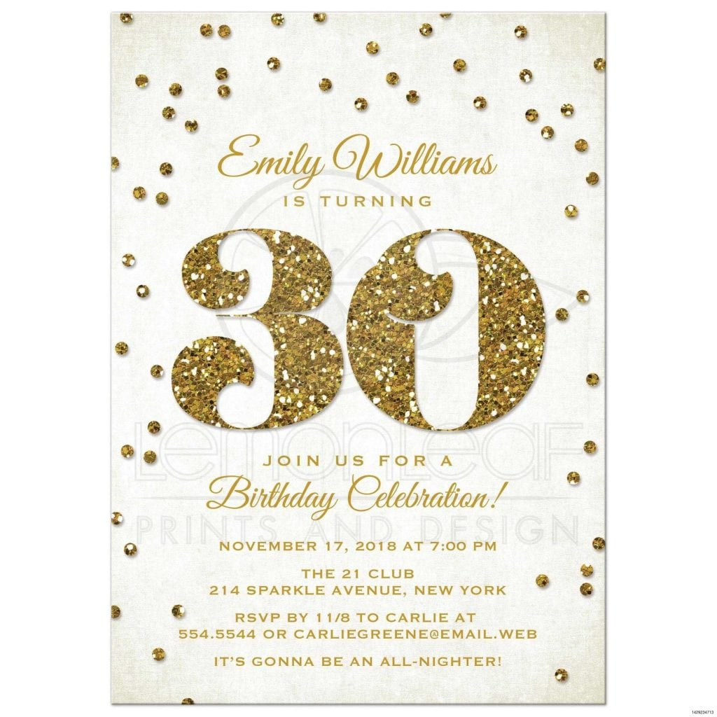 Comely 30th Birthday Party Invitation By Kindlyreply On Etsy