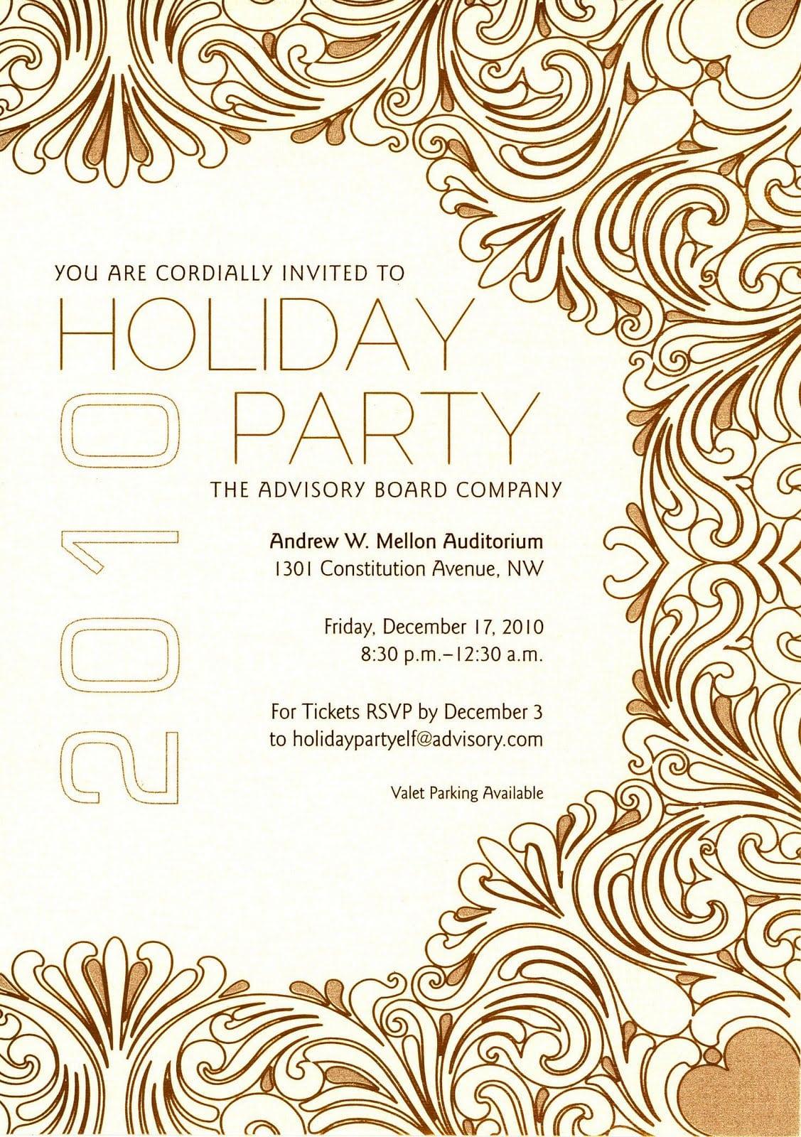 Company Party Invitation Templates  Company Holiday Party