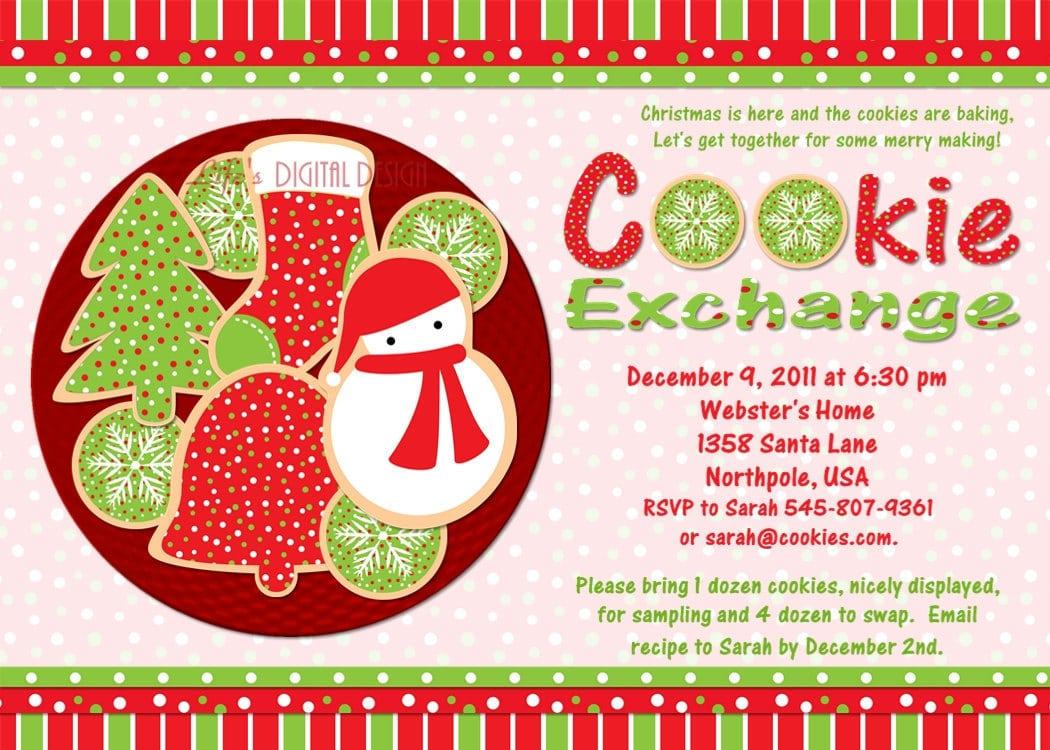 Cookie Exchange Invitation Templates