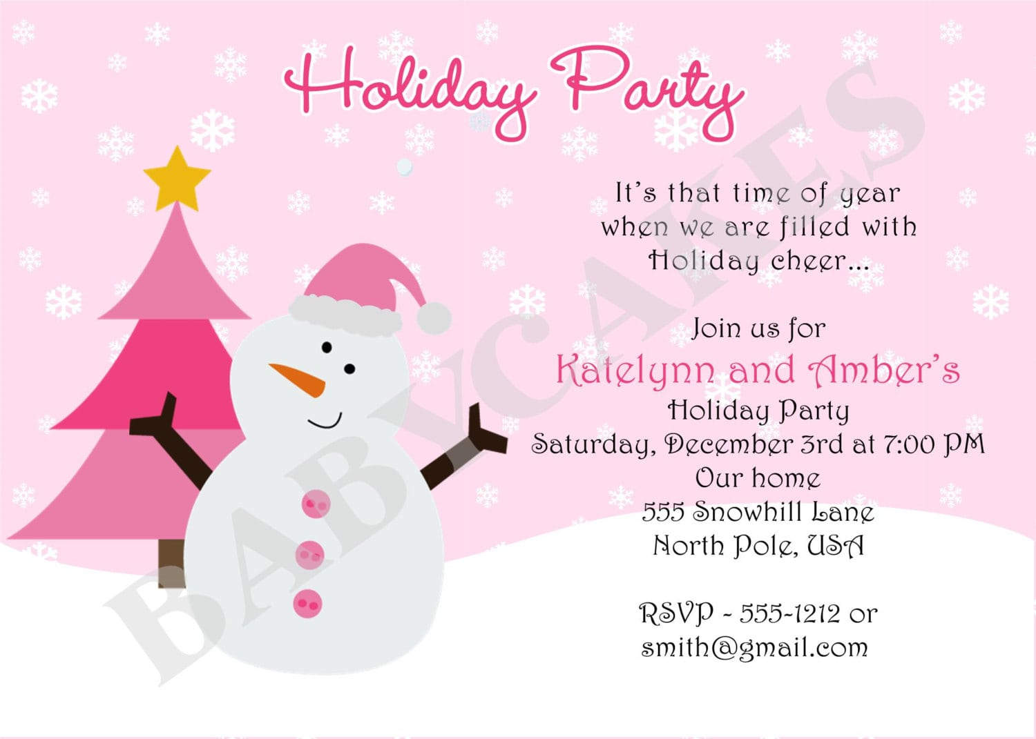 Business Holiday Party Invitation Wording