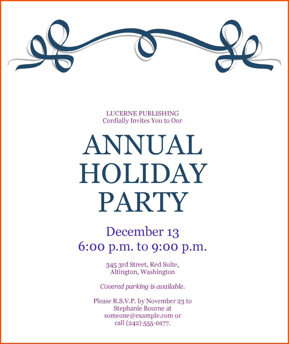 annual christmas party invitations - Ozil.almanoof.co