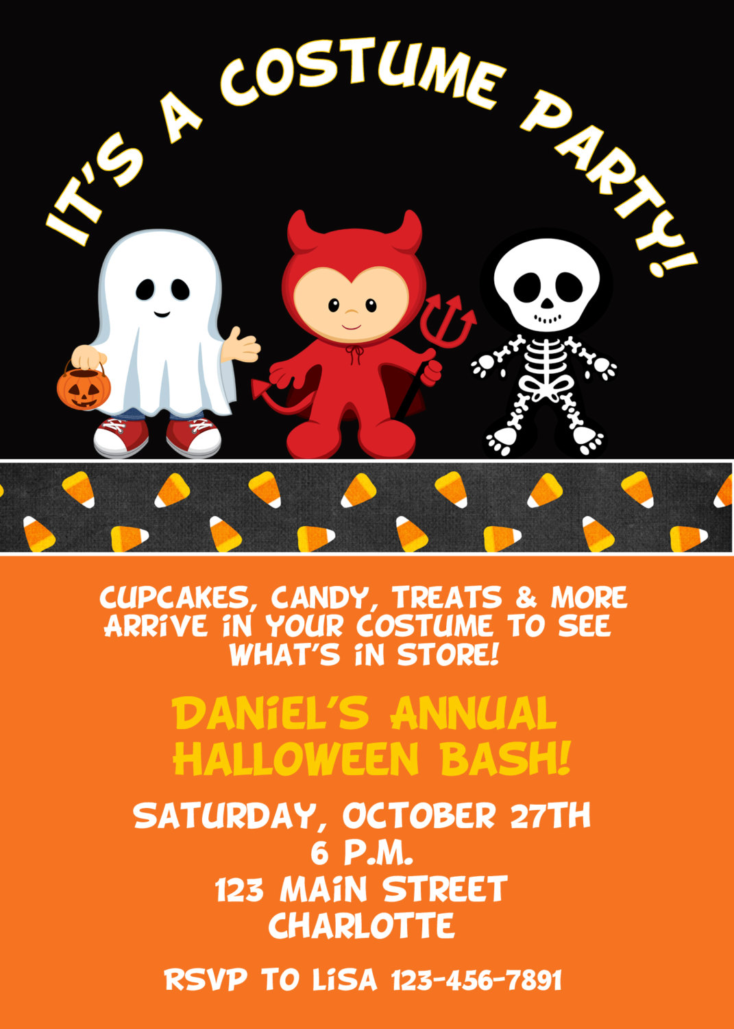 Costume Party Birthday Invitation
