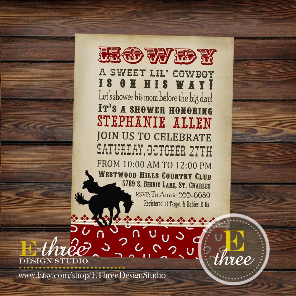 Cowboy Invitation Template    Wild West Cowboy Invitation Sassaby