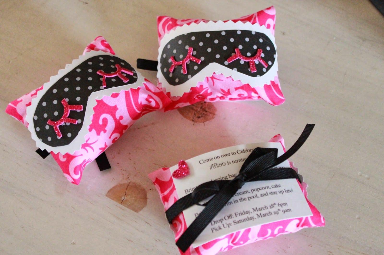 Crafty Texas Girls  Slumber Party Invite