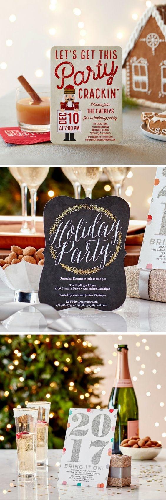 Create Custom Holiday Party Invitations + Photo Christmas Party