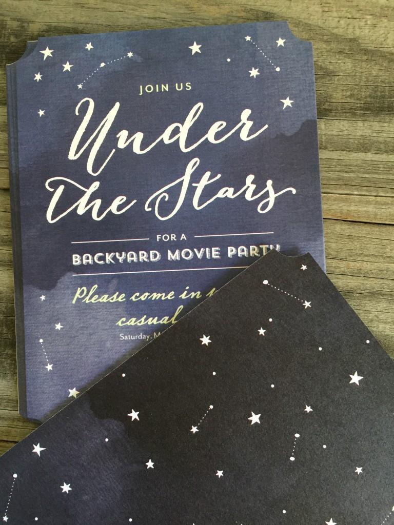 Create Custom Invitations For A Movie Night Under The Stars