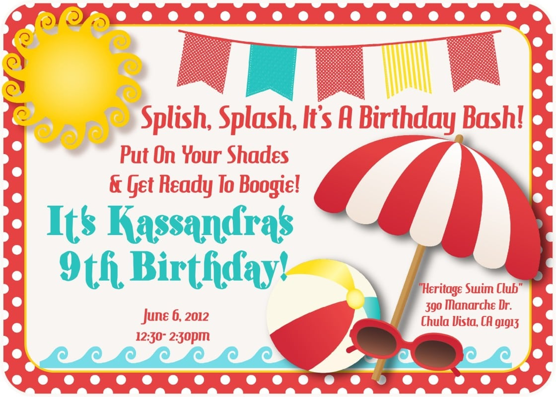 Create Your Own Printable Party Invitations Free